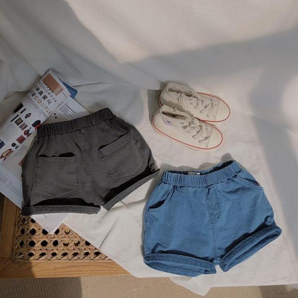 男童牛仔短褲 夏季新款百搭小孩牛仔短褲男童女童薄款純棉休閒沙灘褲子潮-Ballet朵朵