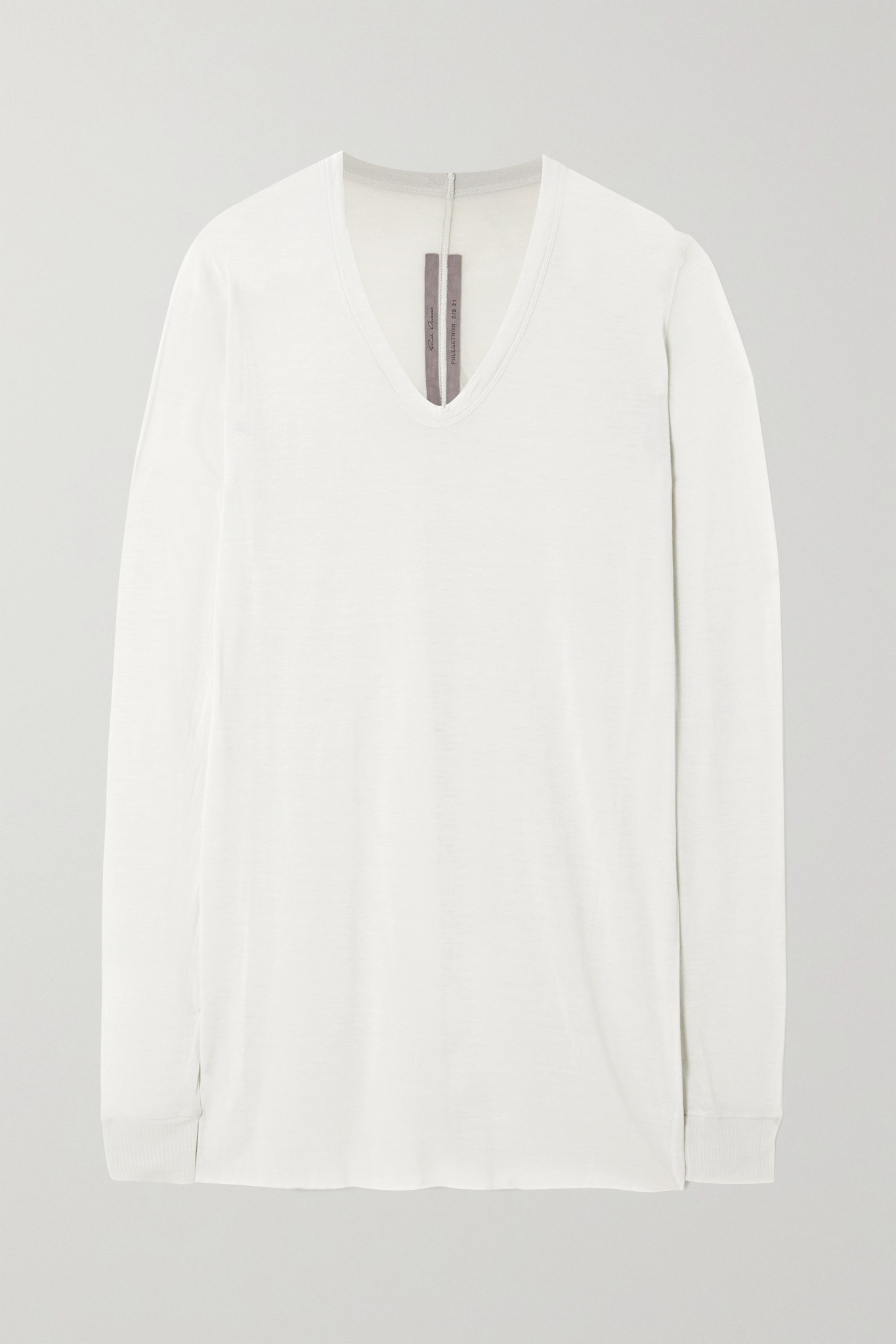 RICK OWENS - Jersey T-shirt - Cream - IT40