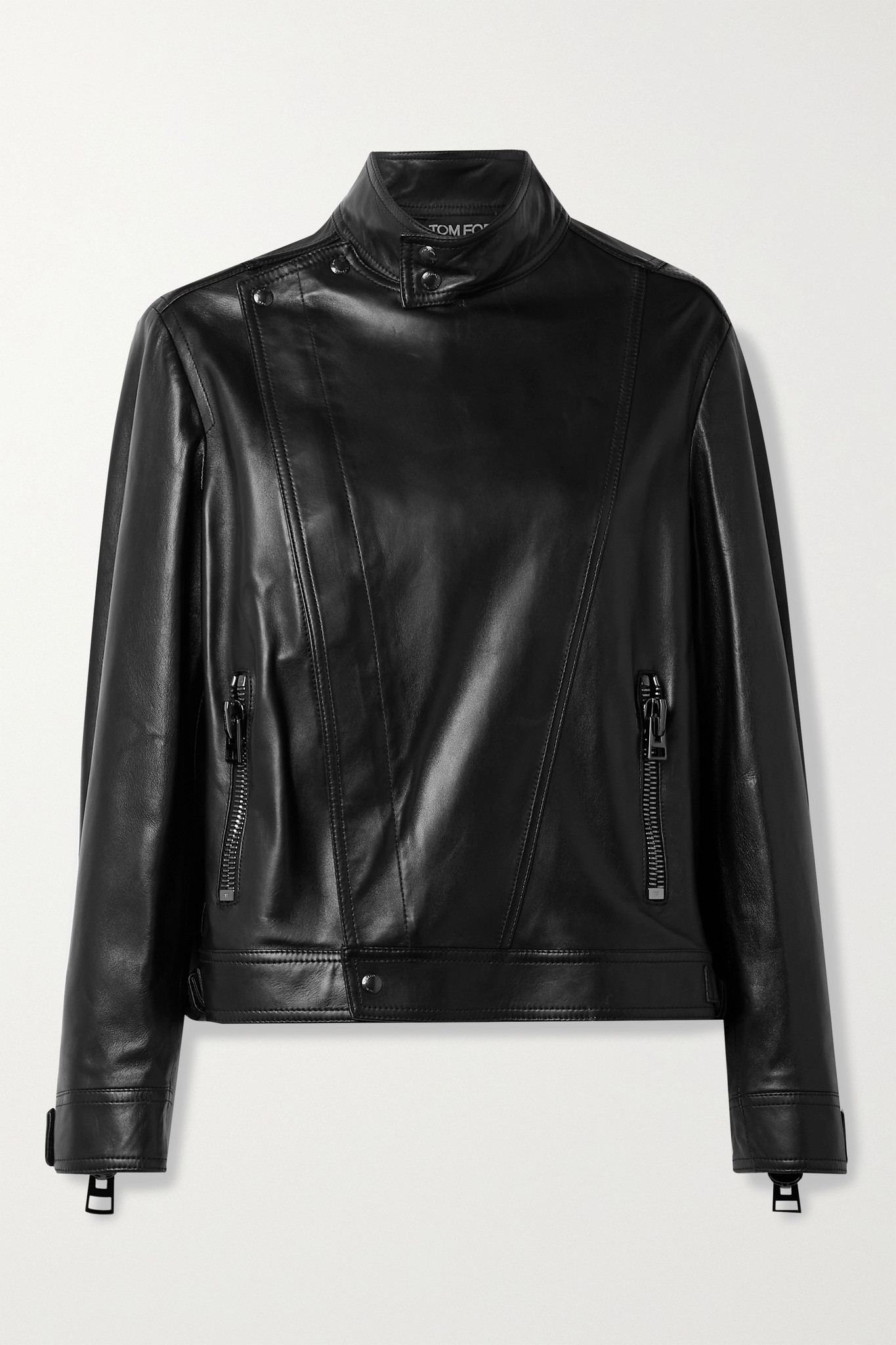 TOM FORD - Leather Biker Jacket - Black - IT40