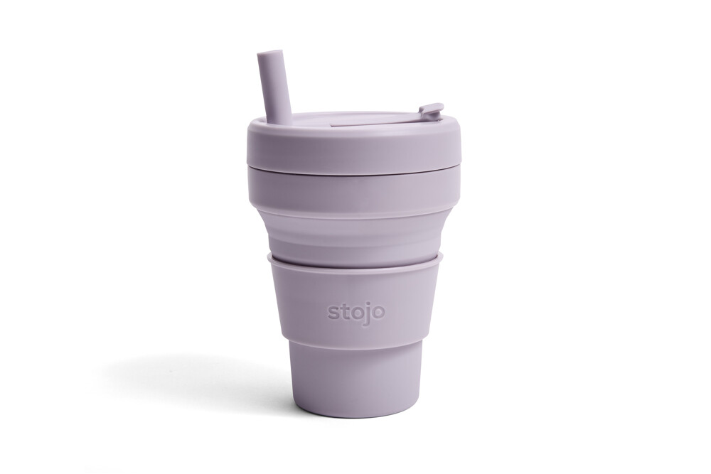 雷射防偽標籤美國 stojo 折疊伸縮杯 16oz 紫丁香