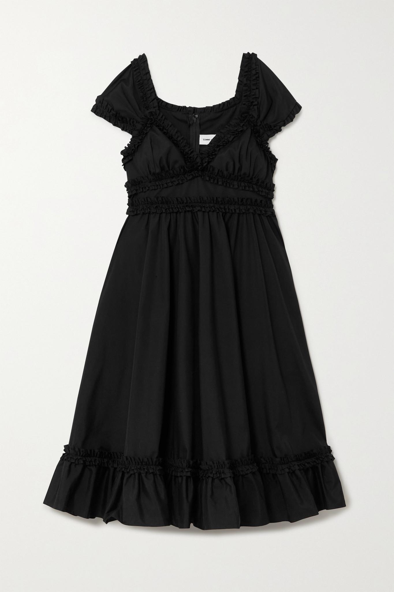 COMME DES GARÇONS GIRL - Ruffled Cotton Dress - Black - medium