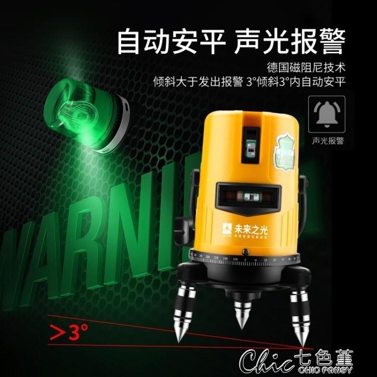綠光水平儀鐳射2線3線5線紅外線高精度強光自動打線投線儀平水儀最低價 【全館免運】