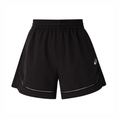 Asics Shorts [2012C080-002] 女 短褲 平織 運動 休閒 透氣 舒適 黑