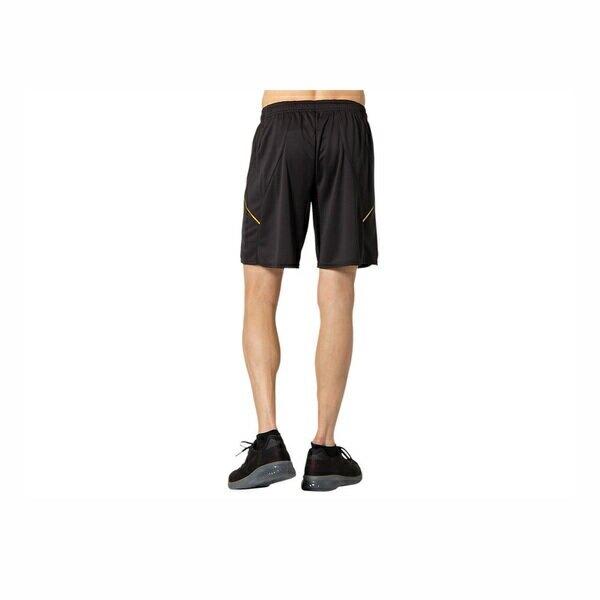 Asics Shorts [2051A248-001] 男 短褲 針織 排球 運動 休閒 吸濕 排汗 快乾 開岔 黑