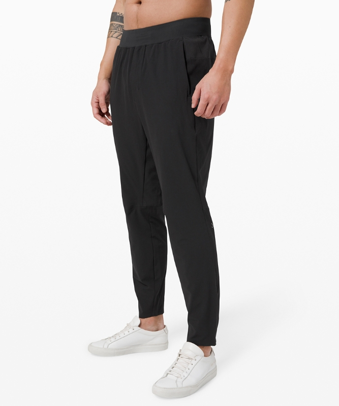 "Lululemon Men's In Mind Pant 27"" Asia Fit, Black Size Xs"