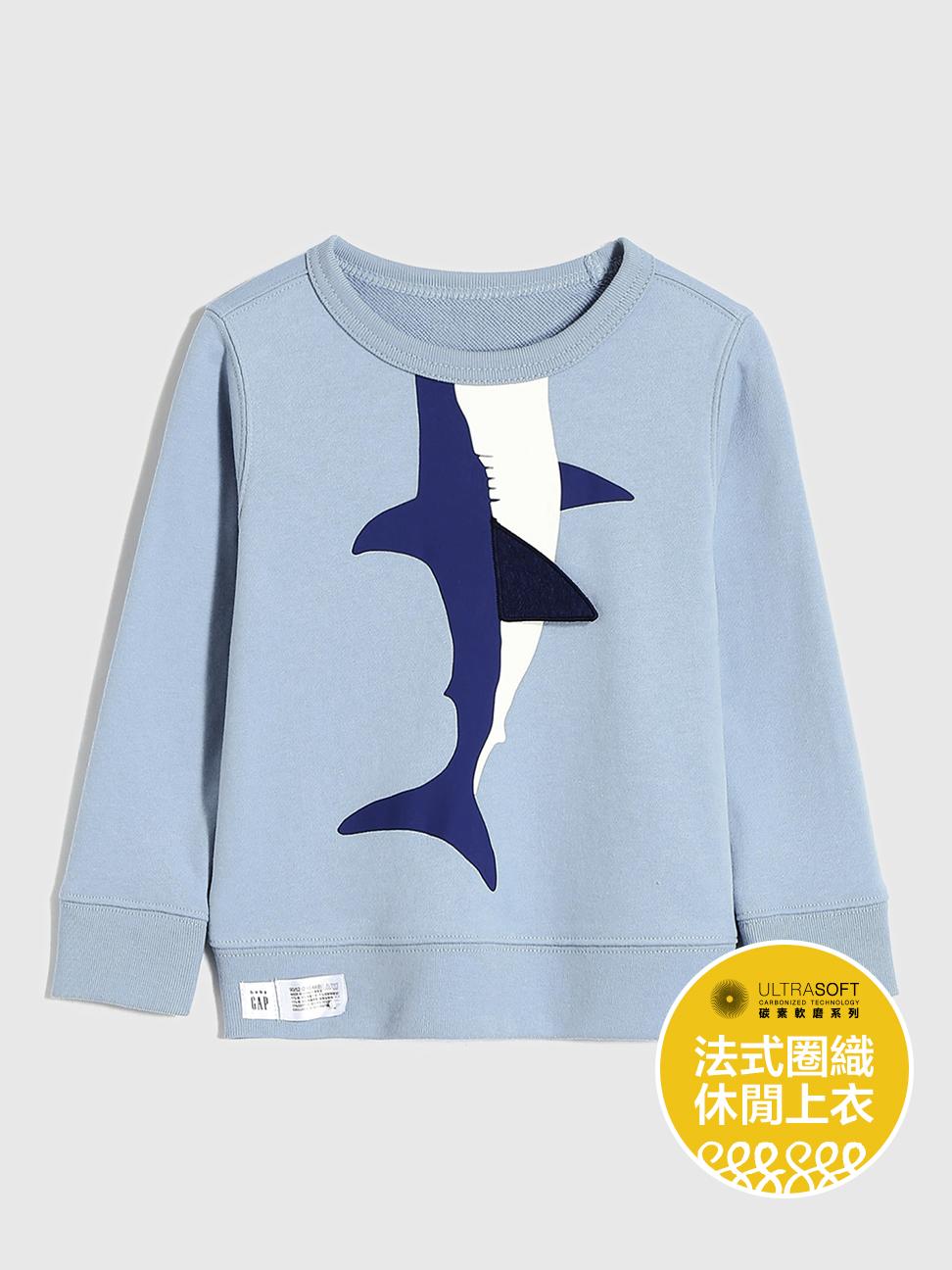 幼童 碳素軟磨系列法式圈織 互動趣味休閒上衣
