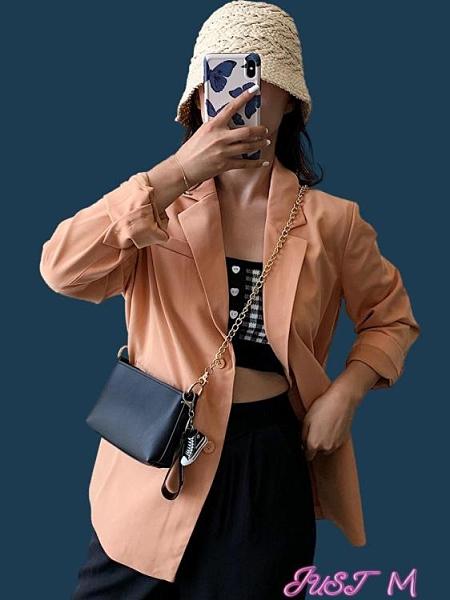 鍊條包高級質感洋氣小包包女2021新款潮時尚百搭網紅爆款鍊條側背斜背包 JUST M