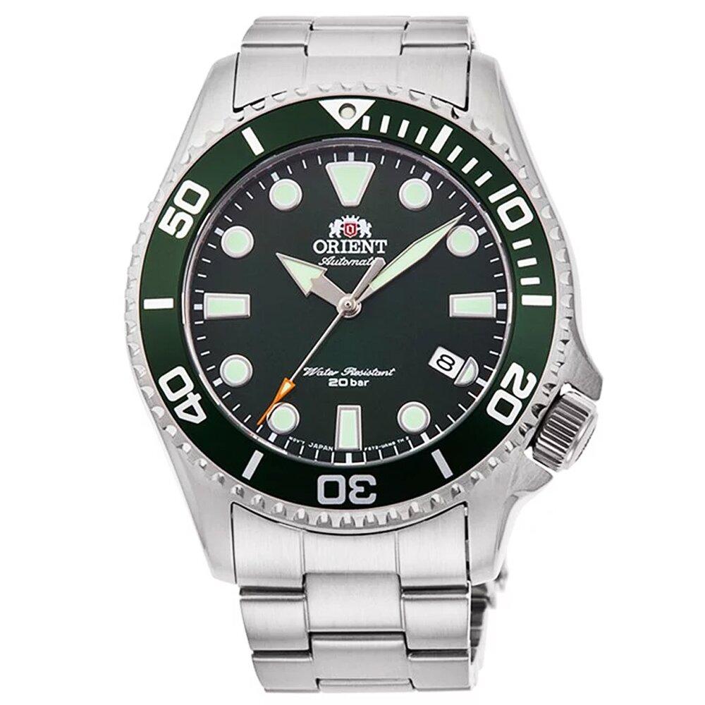 ORIENT 東方錶潛水機械鋼帶錶-綠水鬼 / RA-AC0K02E (原廠公司貨)