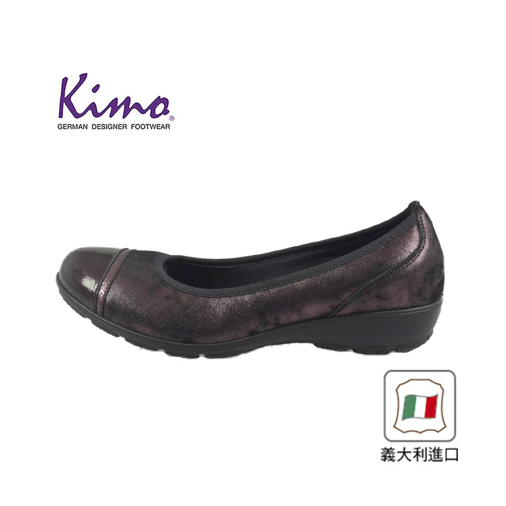 Kimo義大利製造奢光皮面氣質簡約風娃娃鞋 女鞋 (紫40707055905)
