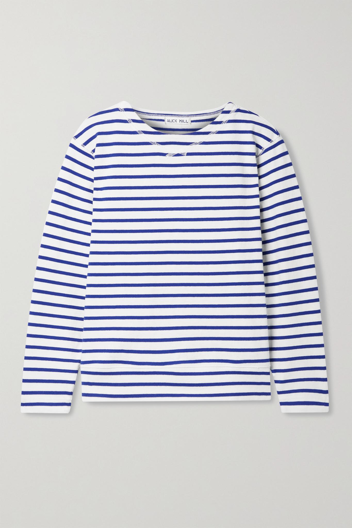 ALEX MILL - Lakeside 条纹纯棉平纹布上衣 - 白色 - small