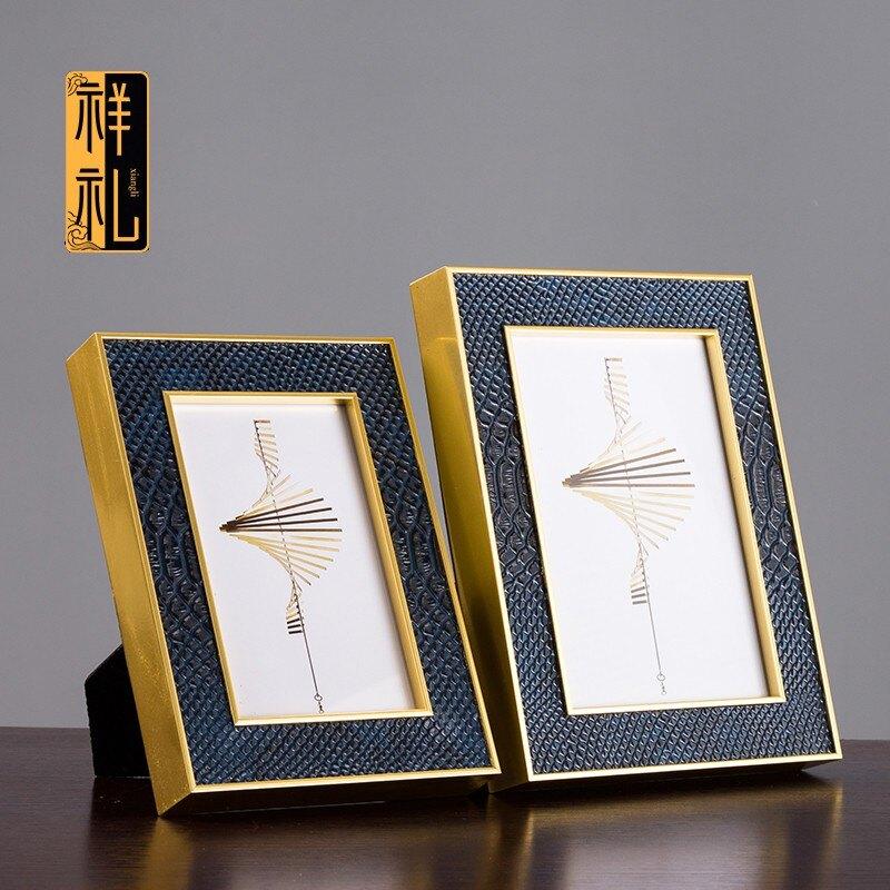 祥禮 現代相框高檔相框相架金色相框像框相框架輕奢相框現代相框1愛尚優品