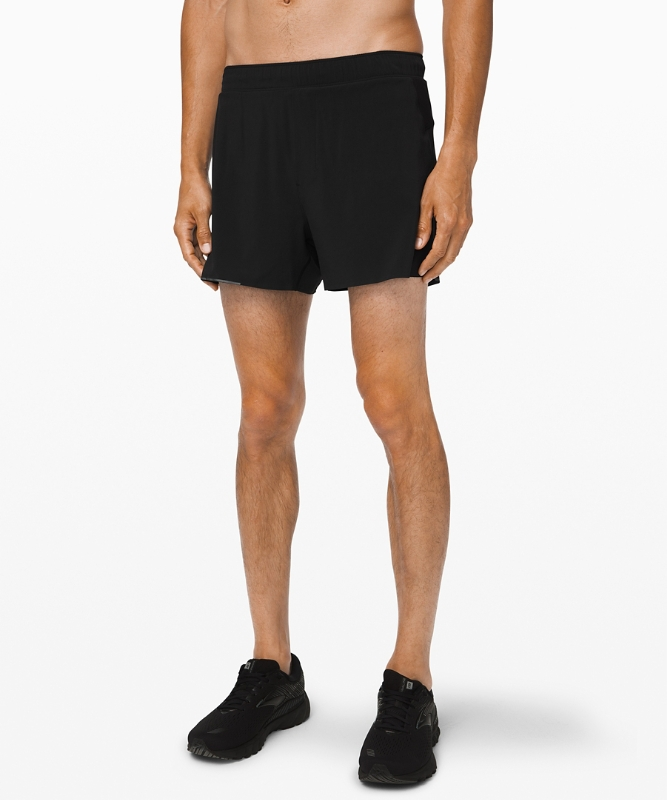 "Lululemon Men's Surge Short 4"" Lined, Black Size S"