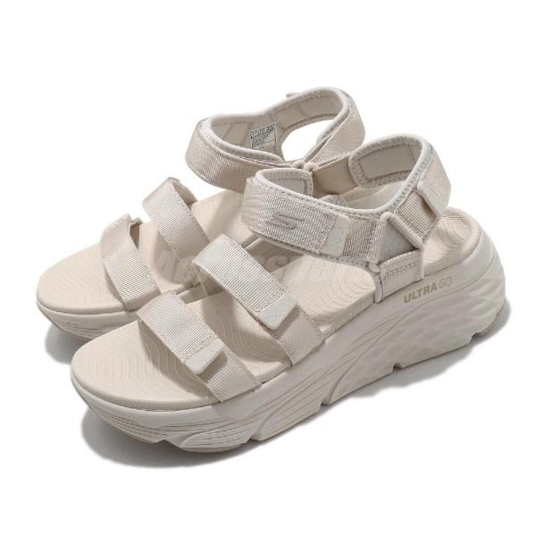 Skechers Max Cushioning 女款 米白色 厚底 增高 休閒鞋 140218NAT
