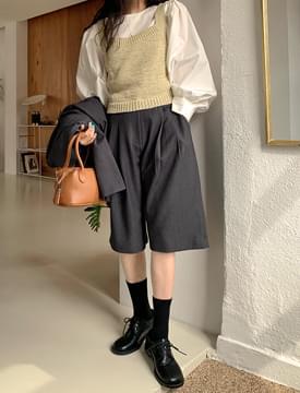 韓國空運 - Winsome Knitwear Bustier 無袖