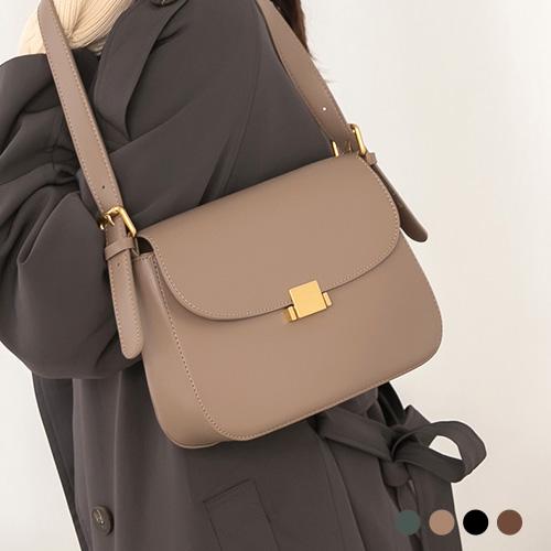 側背包-咖啡巧酥皮革肩背/側背方包-O-Rainbow【A17173812】