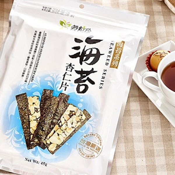 【南紡購物中心】穀粒珍.海苔杏仁片 (40g/包,共兩包)