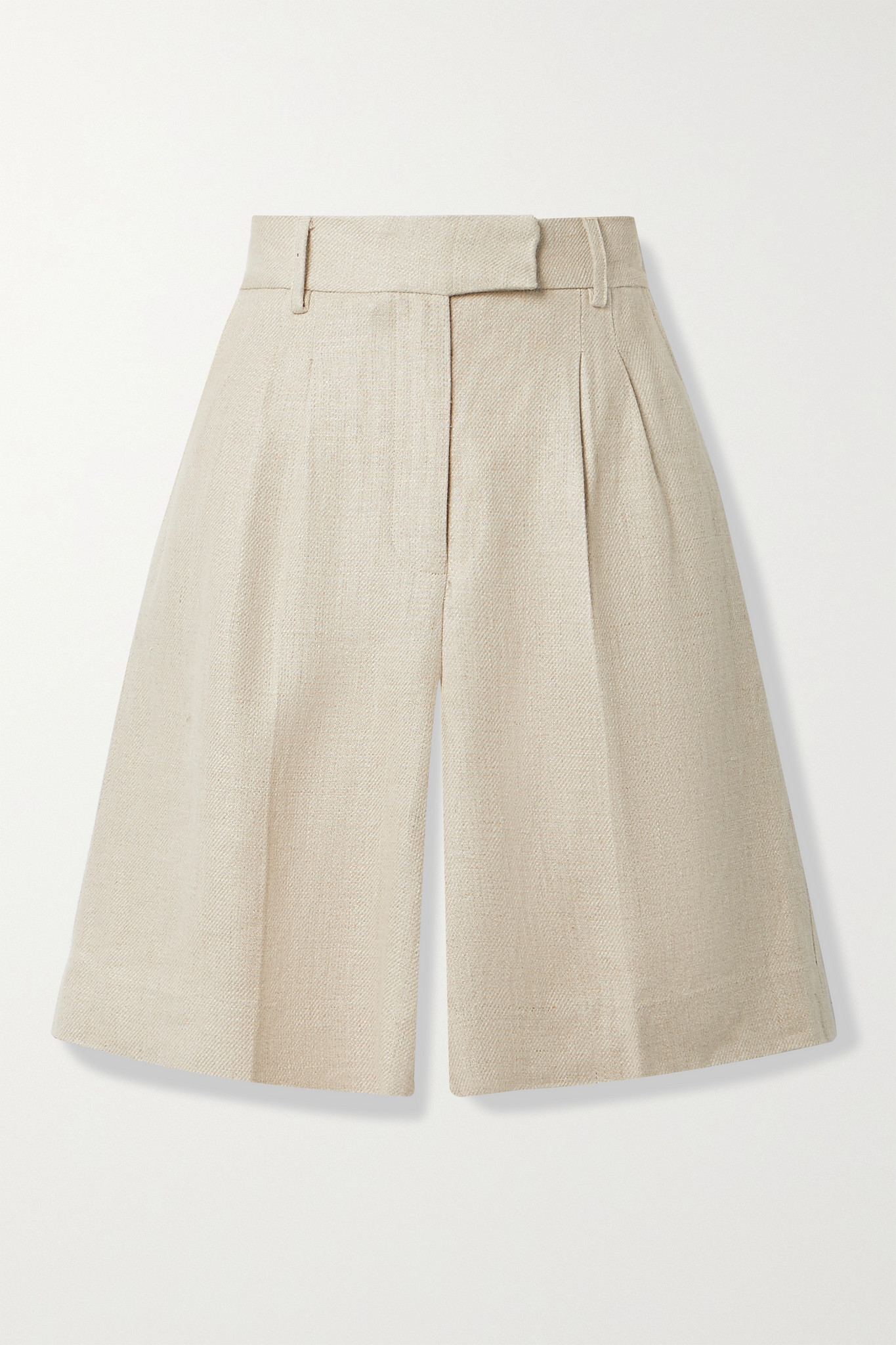 REMAIN BIRGER CHRISTENSEN - Kit Pleated Linen Shorts - Neutrals - DK36