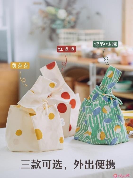 保溫袋 樹可飯盒袋手提包防水防油便當袋可愛大容量保溫袋上班帶飯的袋子 果果輕時尚