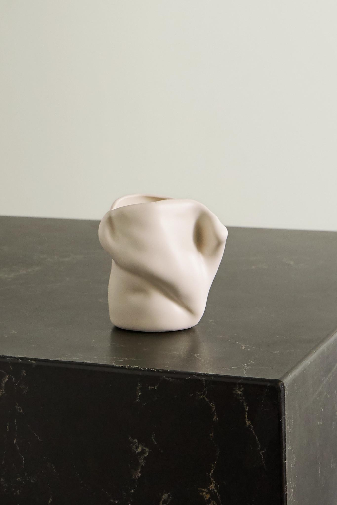 COMPLETEDWORKS - + Ekaterina Bazhenova Yamasaki Postures Small Ceramic Vase - White - one size