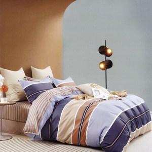 BUTTERFLY-純棉三件式枕套床包組-布魯斯(加大)
