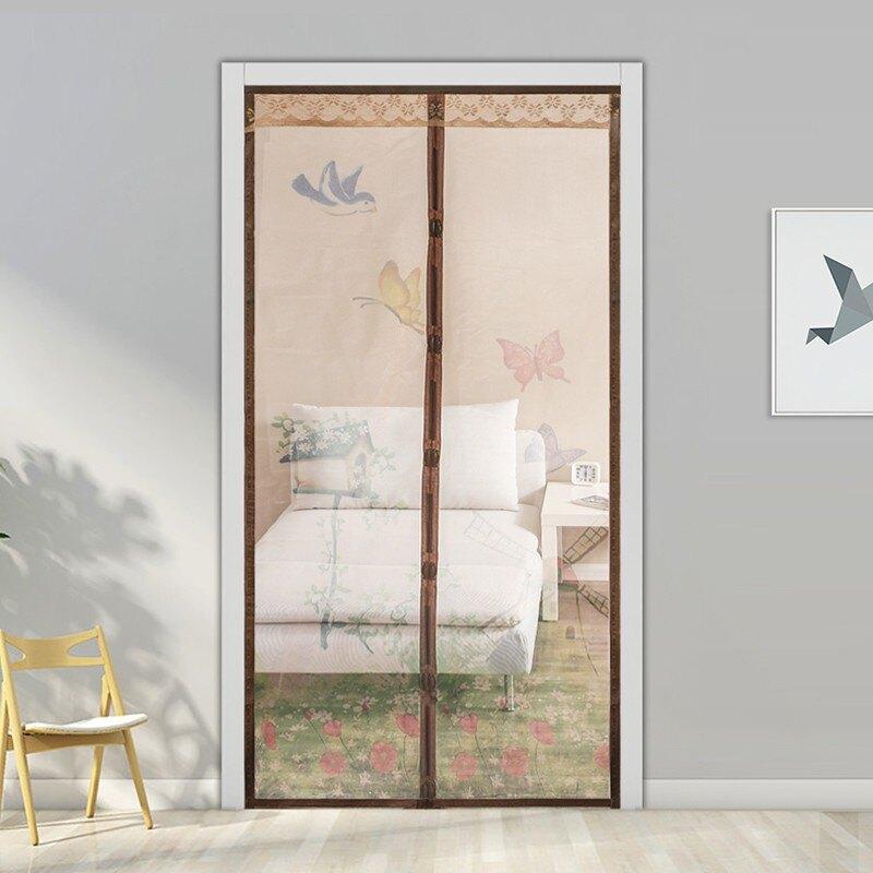夏季防蚊魔術貼自吸磁性軟紗門簾子隔斷簾室內加密布藝紗窗紗門1愛尚優品