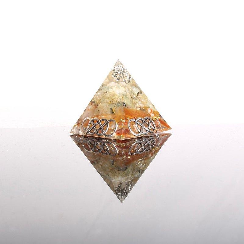 貔貅無限招財奧剛金字塔-黃水晶紅瑪瑙葡萄石發財開運金運守護神