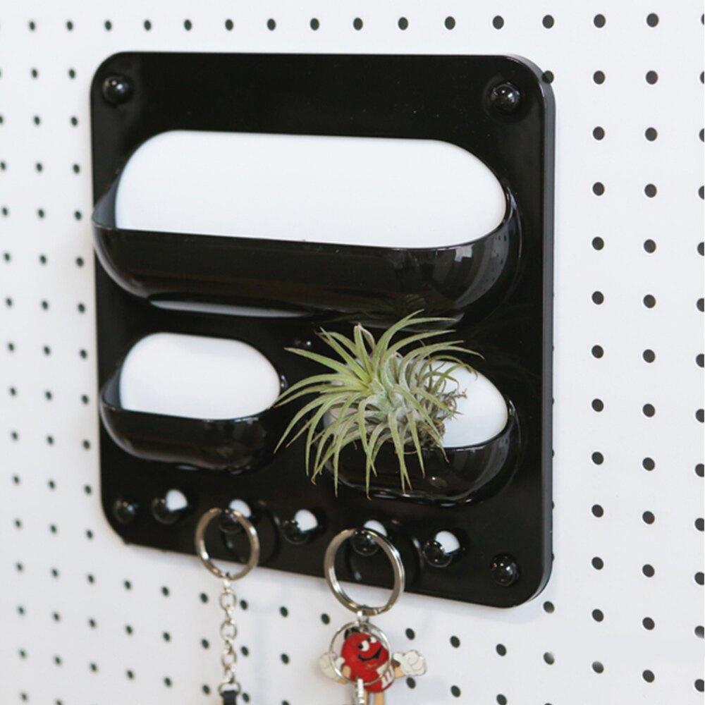 洞洞板配件/收納架/牆面收納 洞洞板專用磁性收納架 掛勾三口袋 台灣製 完美主義 【G0055】