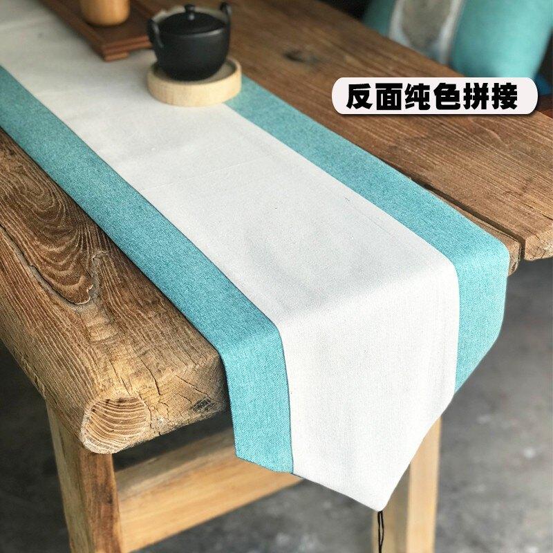 中式桌旗新中式棉麻簡約餐墊北歐茶幾布電視柜蓋布禪意中國風茶席1愛尚優品