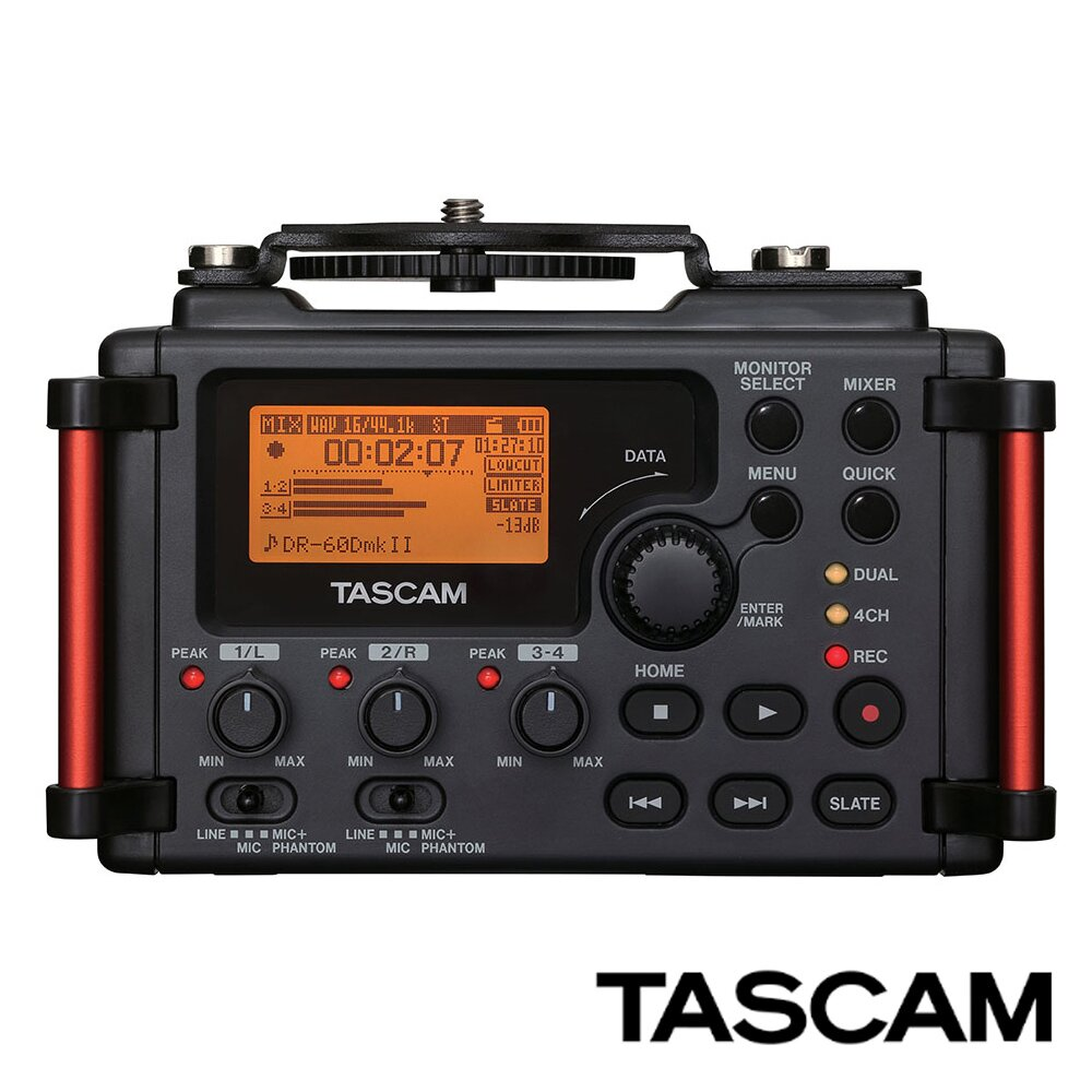 TASCAM DR-60DMK2 單眼用錄音機 (台灣總代理公司貨,保固一年)