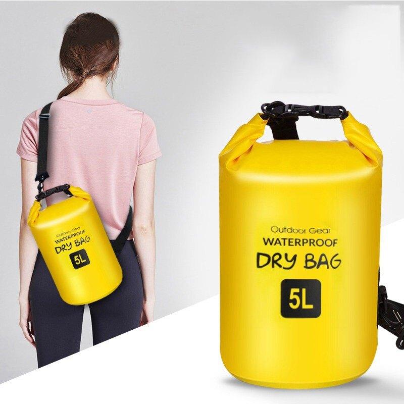戶外浮潛防水包斜跨海邊裝備漂流袋潛水腰包單肩包游泳PVC沙灘包1愛尚優品