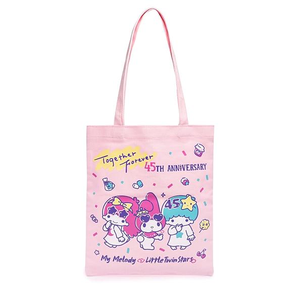 Sanrio 美樂蒂&KIKI LALA 45週年系列 帆布袋 粉