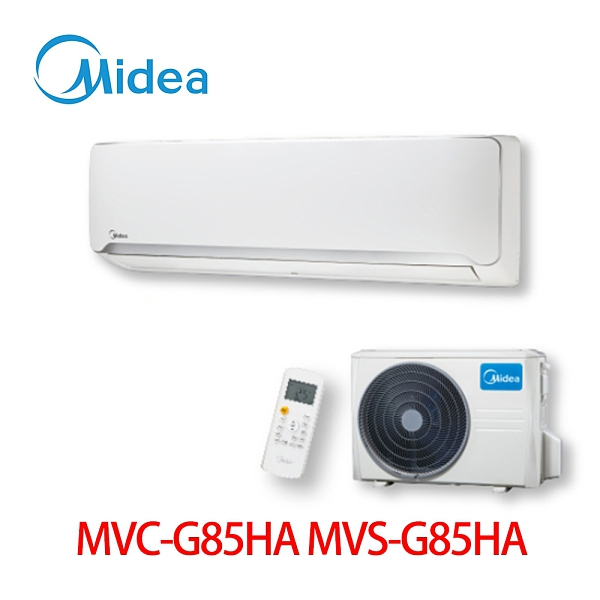 【MIDEA 美的】12-18坪 變頻式 一對一 壁掛型 MVC-G85HA/MVS-G85HA