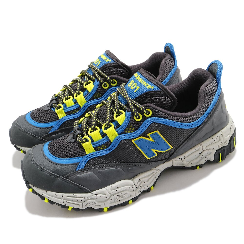 NEW BALANCE 慢跑鞋 801 運動休閒 野跑鞋 男鞋 紐巴倫 穩定支撐 抓地力佳 越野慢跑 灰 藍 [ML801G
