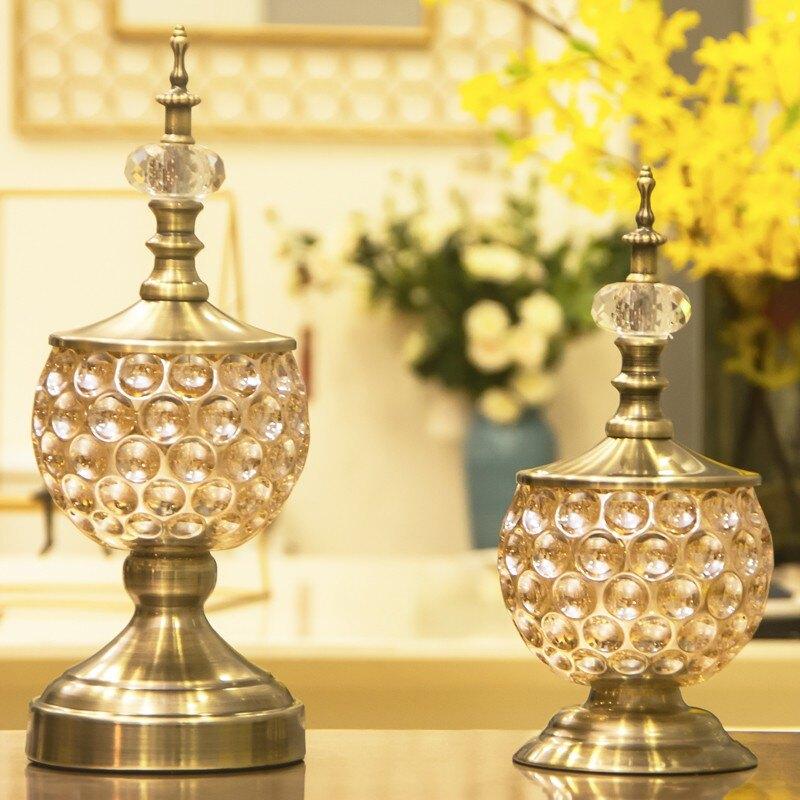 客廳電視柜歐式擺件酒柜裝飾品現代簡約工藝品奢華玄關家居擺設品1愛尚優品