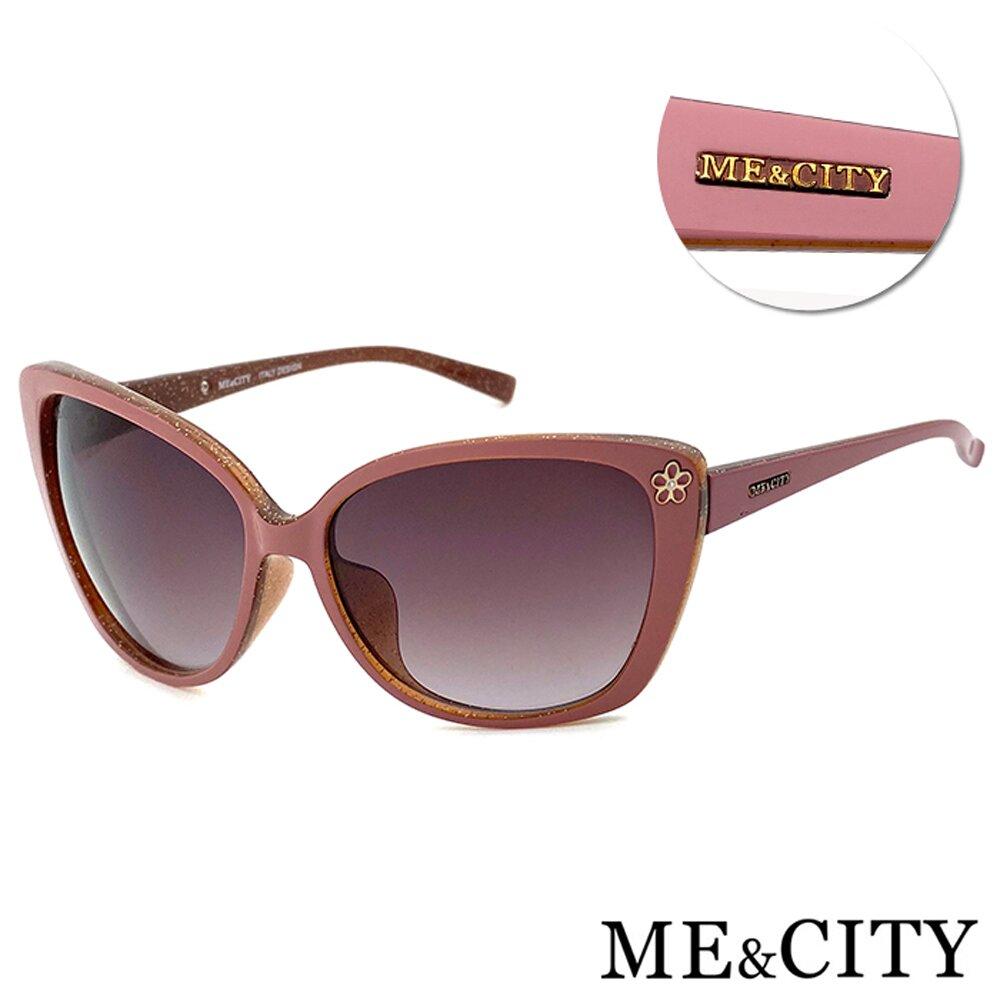 ME&CITY 歐美曼妙女伶鑲花太陽眼鏡 義大利設計款 抗UV400 (ME 120020 D247)
