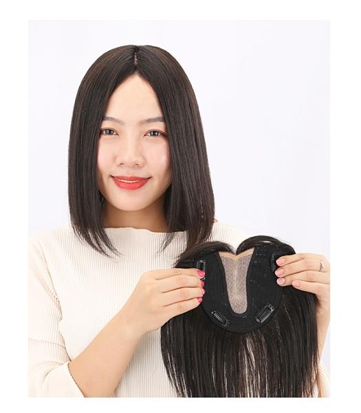 女假髮片 遞針髮片 全真髮 補髮縫-側分款 補髮片 遮白髮 增髮量 逼真 不漏網【黑二髮品】OIZP