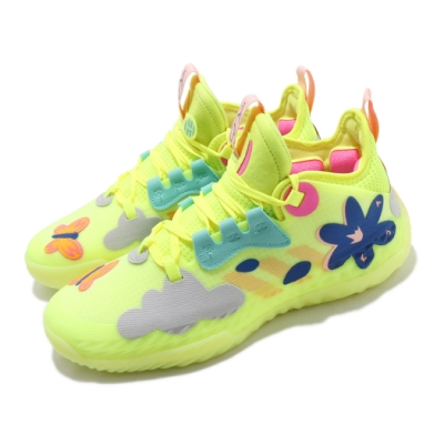 adidas 籃球鞋 Harden Vol 5 哈登 男鞋 愛迪達 明星賽 雙中底科技 避震 包覆 黃 彩 FY2118
