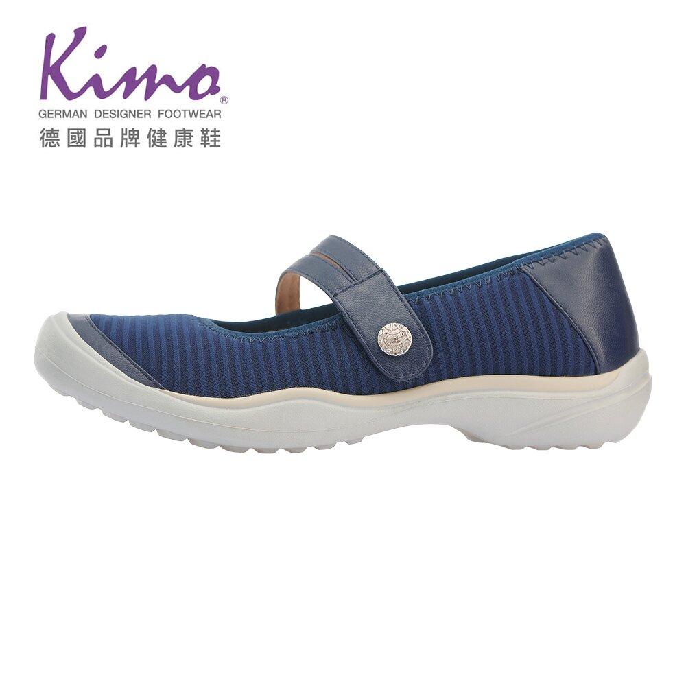 【Kimo 德國品牌健康鞋】繫帶輕量氣墊休閒鞋 女鞋 (藍 KBASF073236)