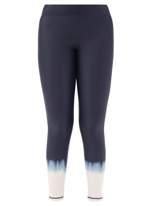 The Upside - Seawater Cropped Stretch-jersey Leggings - Womens - Navy