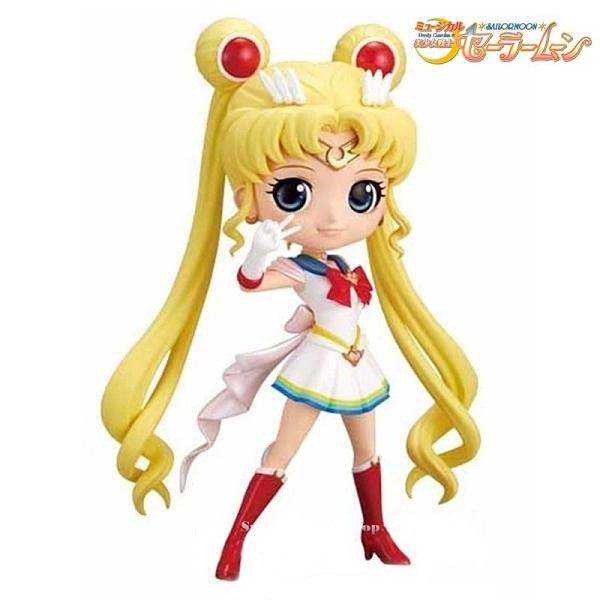 【SAS】日本 BANDAI Qposket 美少女戰士 月野兔 水手月亮【蠟筆色版 B款 】模型公仔 14cm