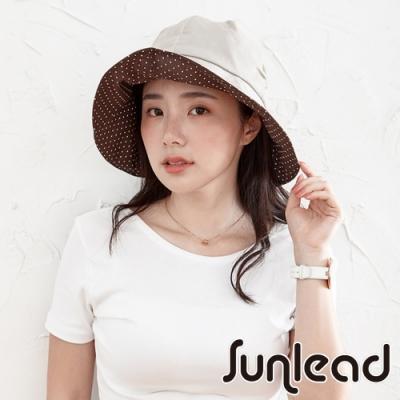 Sunlead 可塑型帽緣。防風吹落防曬美型遮陽帽 (米褐色)