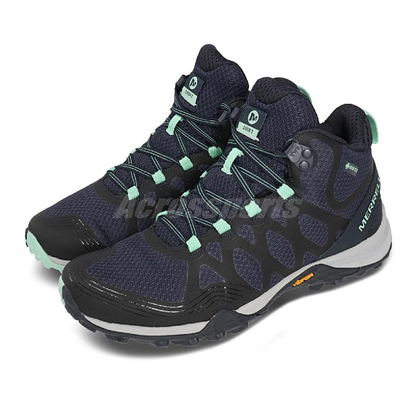 Merrell 戶外鞋 Siren 3 GTX 藍 綠 女鞋 中筒 運動鞋 Gore-Tex 防水 【ACS】 ML034280