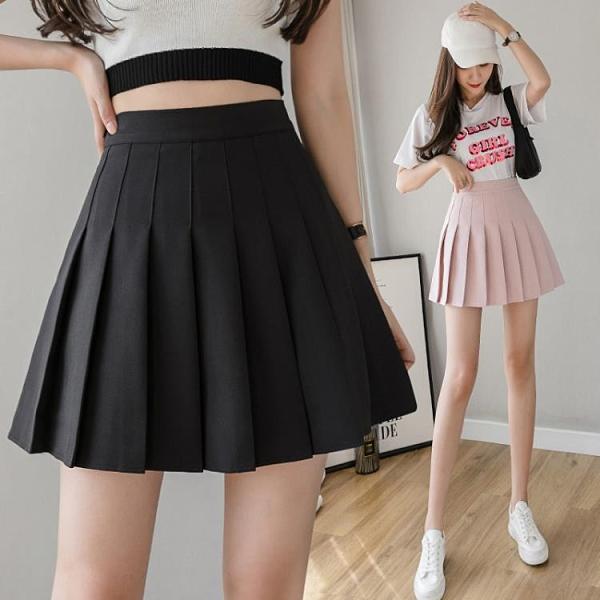 2021年新款夏季百搭百褶裙a字短裙包臀高腰半身裙女裙子春夏外穿 3C數位百貨