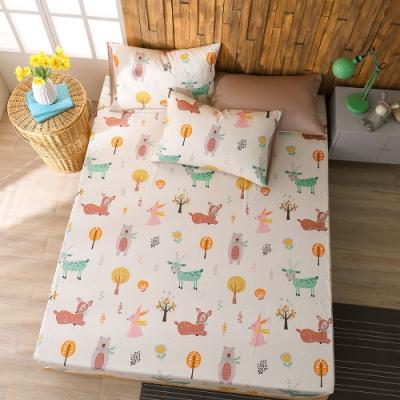 鴻宇 100%精梳棉 森林派對 雙人特大床包枕套三件組