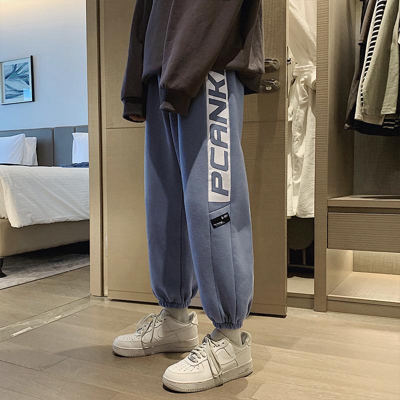 FOFU-雜誌風潮牌褲子韓版潮流港風寬鬆束腳hiphop嘻哈運動衛褲【08SB00263】