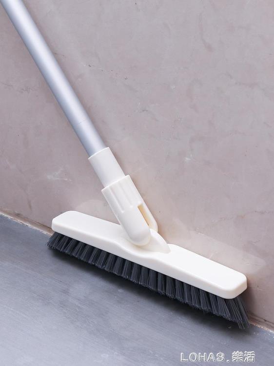 長柄硬毛縫隙刷衛生間浴室廚房地板刷瓷磚地磚牆角無死角清潔神器 林之舍家居