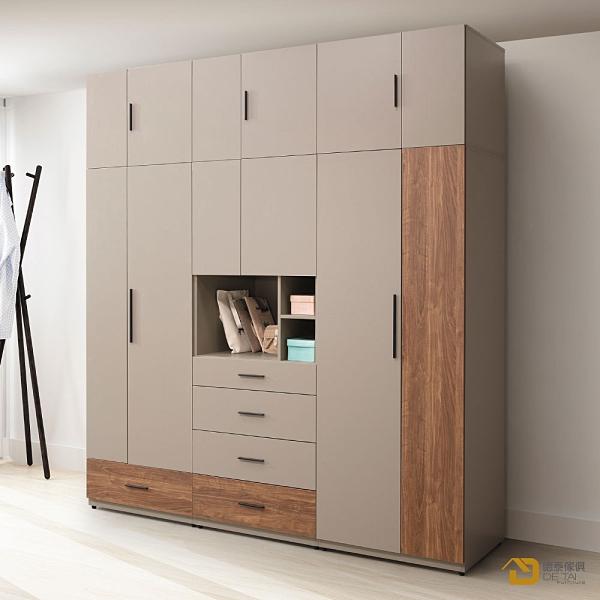 D&T 德泰傢俱 Vienna2.5尺一抽衣櫥 A023-B14-02