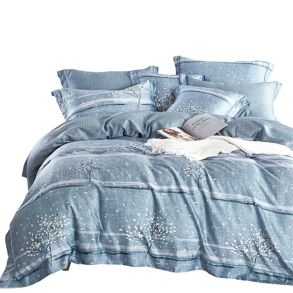 【Indian】100%純天絲雙人特大七件式床罩組 (6款任選)