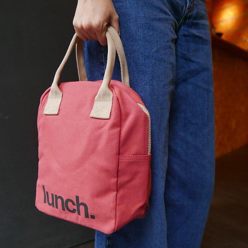 手提包/午餐袋/拉鍊隨手袋 - 復古紅/禮物 女生禮物