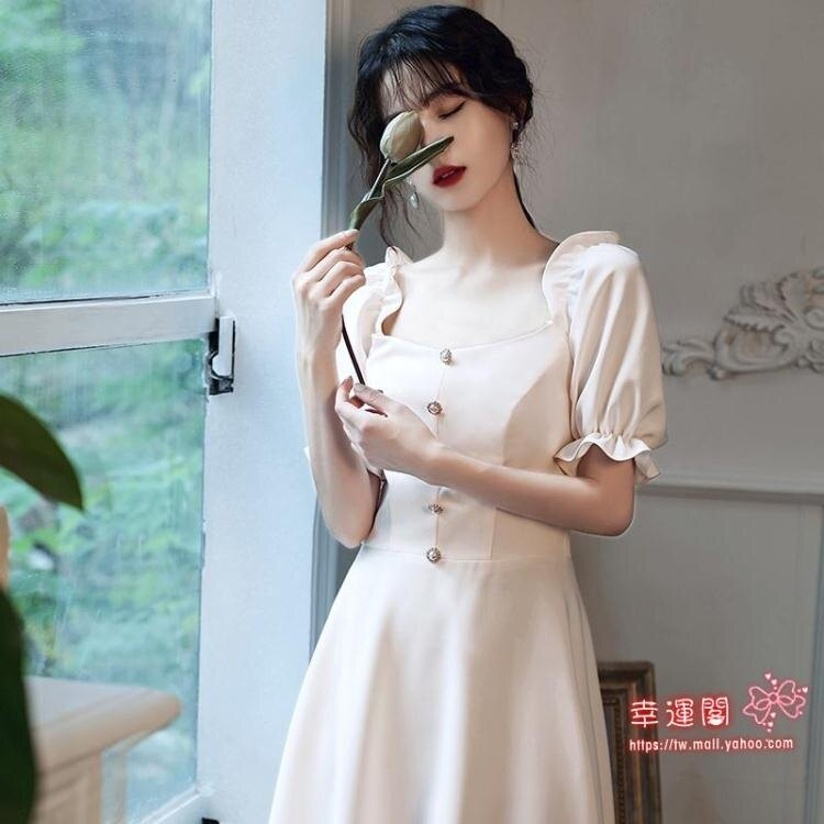 伴娘服 女2021夏季新款仙氣質姐妹團禮服裙日常平時可穿顯瘦中長款